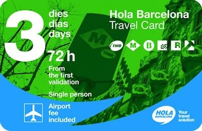 Hola BCN Travelcard 3 Tage