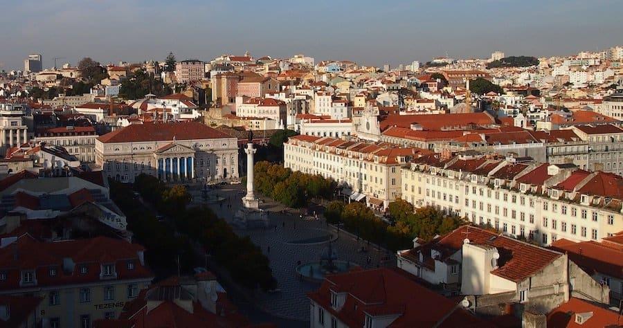 Baixa in Lissabon
