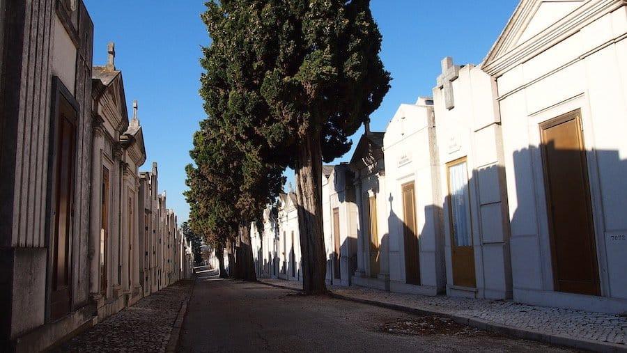 Cemitério dos Prazeres in Lissabon