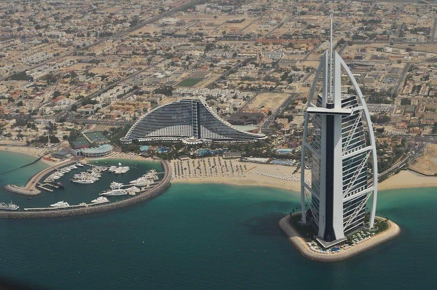 Burj al Arab aus der Luft