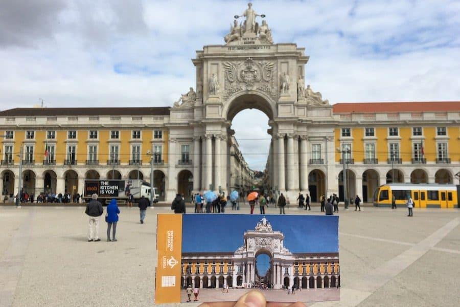 Lissabon: Triumphbogen in der Rua Augusta