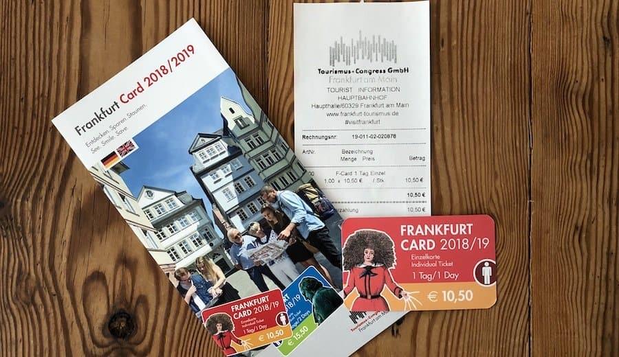 Frankfurt Card mit Broschüre