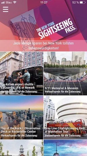 New York Sightseeing Pass App