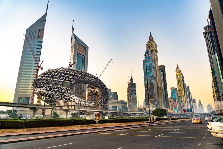 Stadtrundfahrt im Hop-on-Hop-off-Bus in Dubai