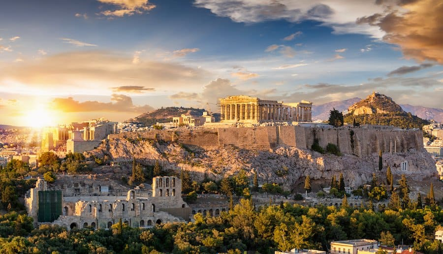 Ausblick über Athen